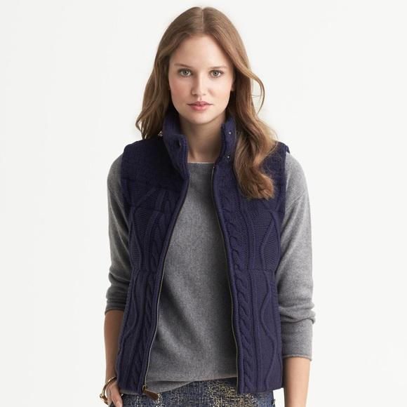 d826f579e62084 Banana Republic Jackets & Coats | Cable Knit Vest | Poshmark